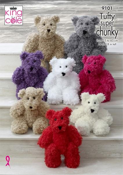 King Cole Tufty Super Chunky Teddy Bear Pattern Kc9101patterns