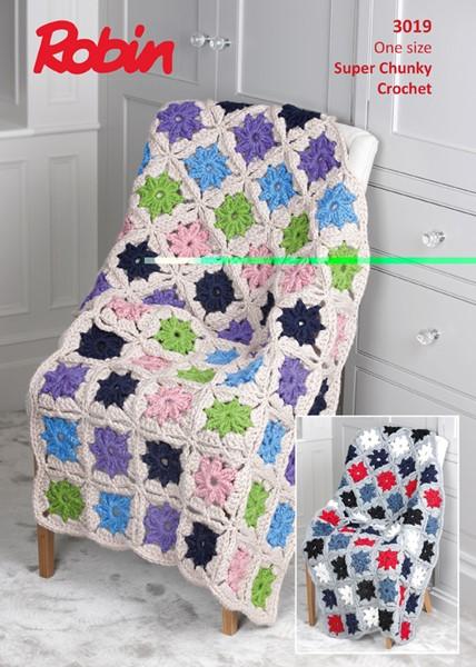 Robin Super Chunky Crochet Blanket Pdf Downloadable Pattern 3019