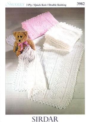 942d1cbb42bd Sirdar Snuggly 3 Ply   Quick Knit   DK Pattern S3982