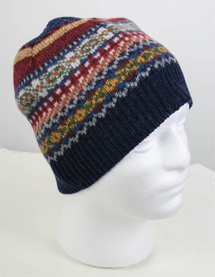 Wool Blanket Online. British made gifts. Lambswool Fairisle Beanie ...