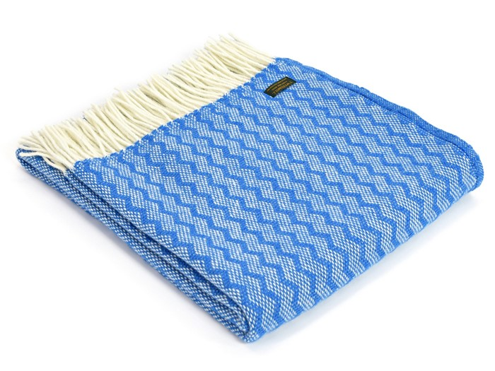 Wool Blanket Online British Made Gifts Zig Zag Check