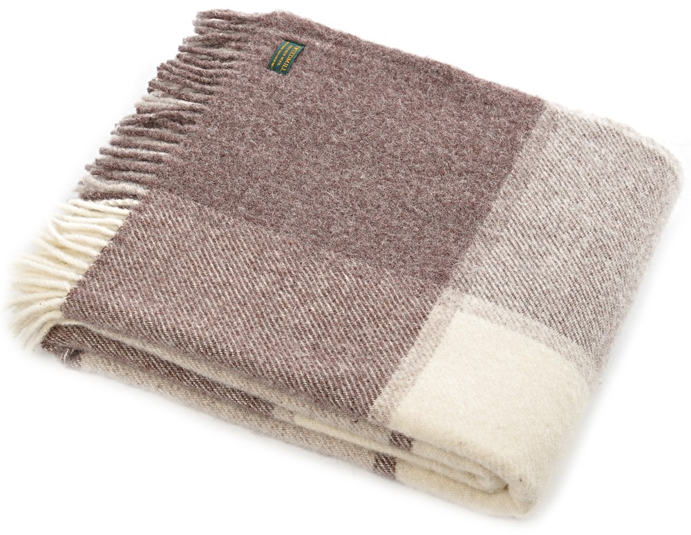 Wool Blanket Online British Made Gifts Block Check Pure