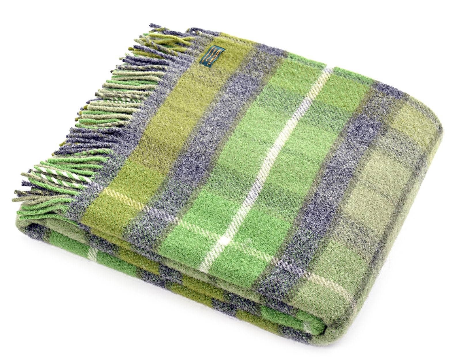 wool blanket online british made gifts classic check wool throw  - wool blanket online british made gifts classic check wool throw  green grey