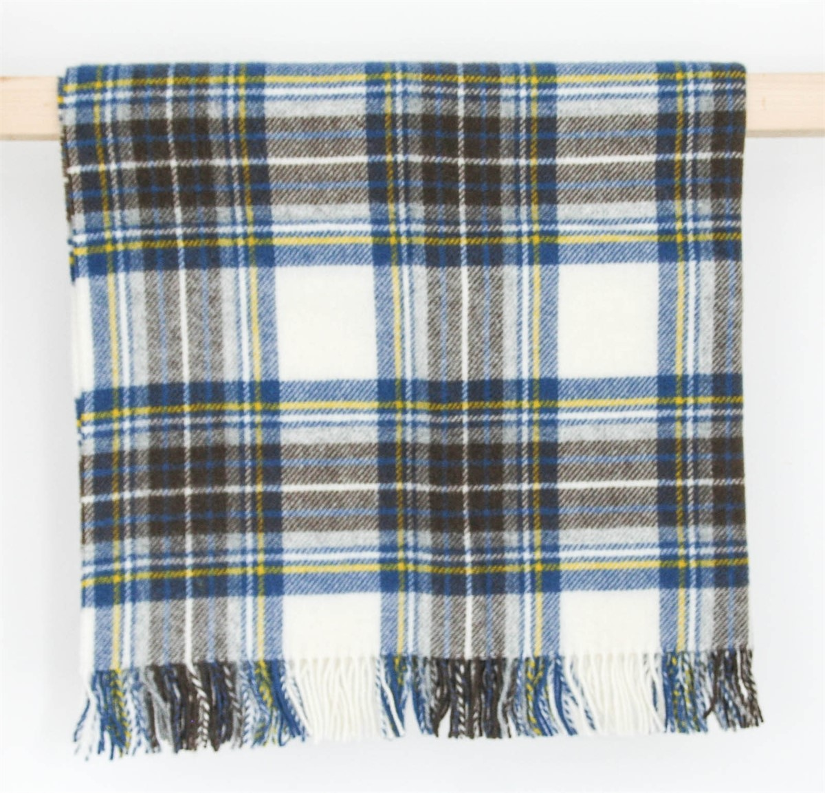 Wool Blanket Online British Made Gifts Muted Blue