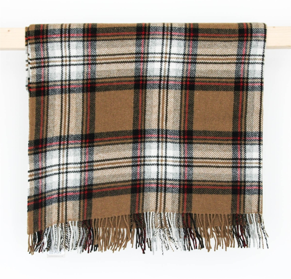 wool blanket online british made gifts tartan wool picnic blanket camel stewart highland. Black Bedroom Furniture Sets. Home Design Ideas